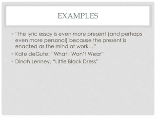 lyric example lyric example 1