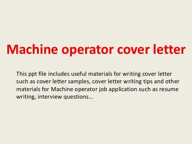 machine operator cover letters