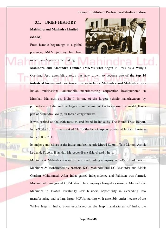 Defunct Vehicle Manufacturers Mahindra Bus Project