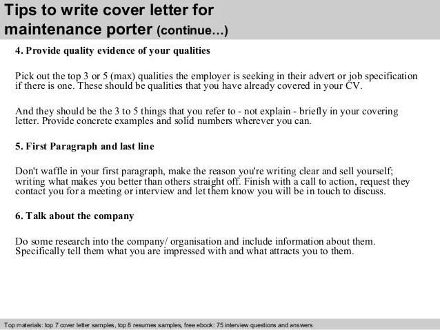 great porter cover letters - Peopledavidjoel - banquet porter sample resume