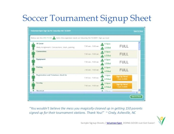 create sign up sheet - Brucebrianwilliams - make a signup sheet