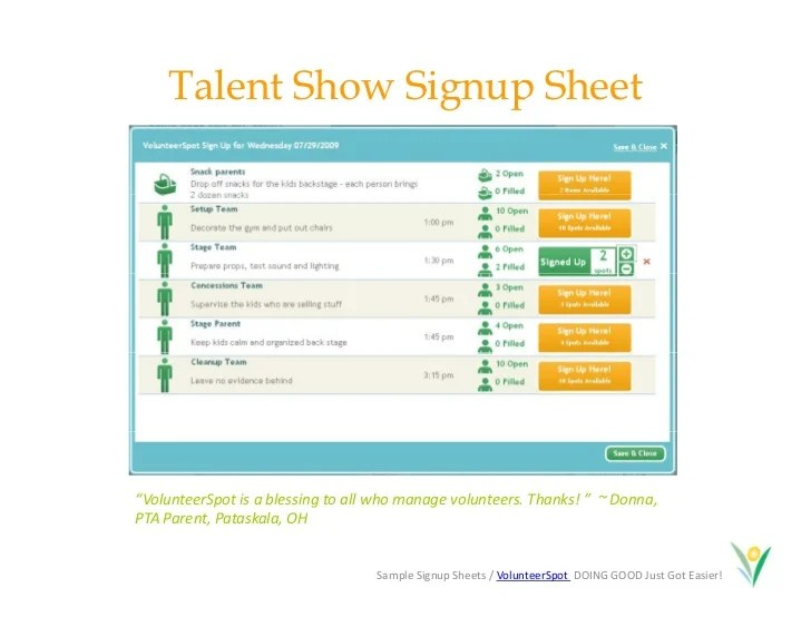 calendar sign up sheet - Intoanysearch - make a signup sheet