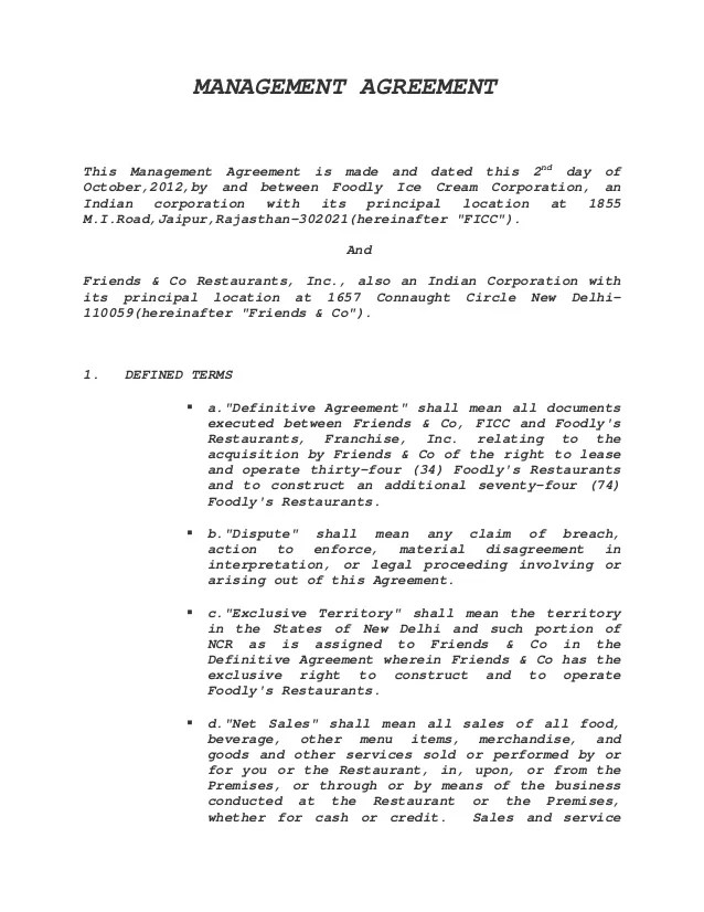 management contract template - Onwebioinnovate - contract management agreement