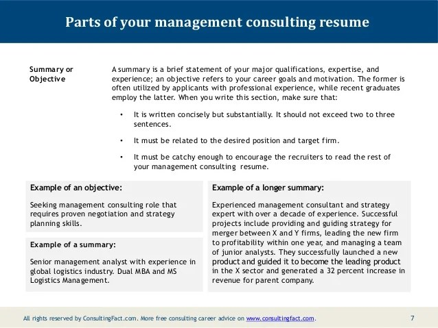 Resume Objective Examples And Writing Tips The Balance Management Consulting Resume Sample