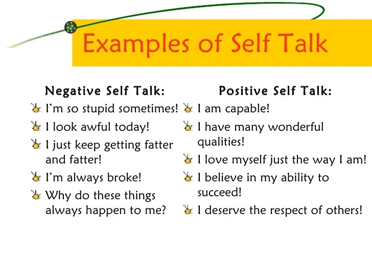 positive self talk for resumes examples