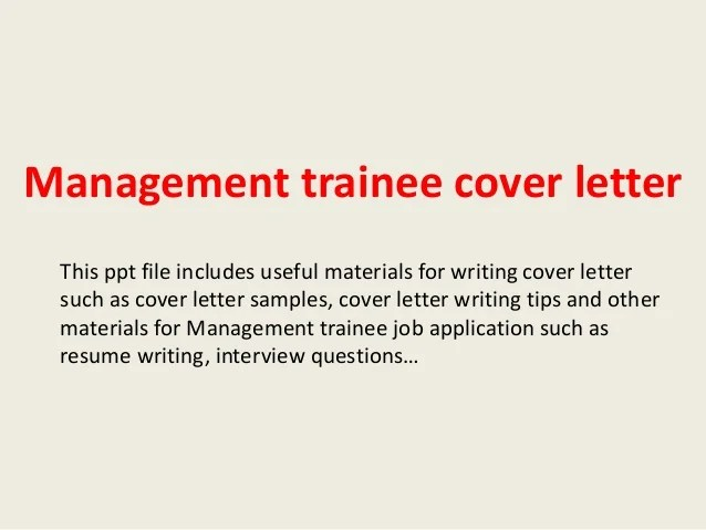 Cover Letter For Management Trainee Position Making A Resume In