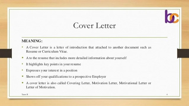 cover letter definition of a cover letter definition of a cover ...