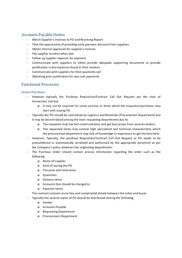 accounts payable duties - Yelommyphonecompany - accounts payable duties