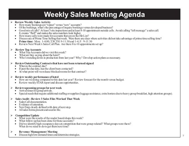 weekly sales meeting agenda template - Ucgenkubkireklamowe