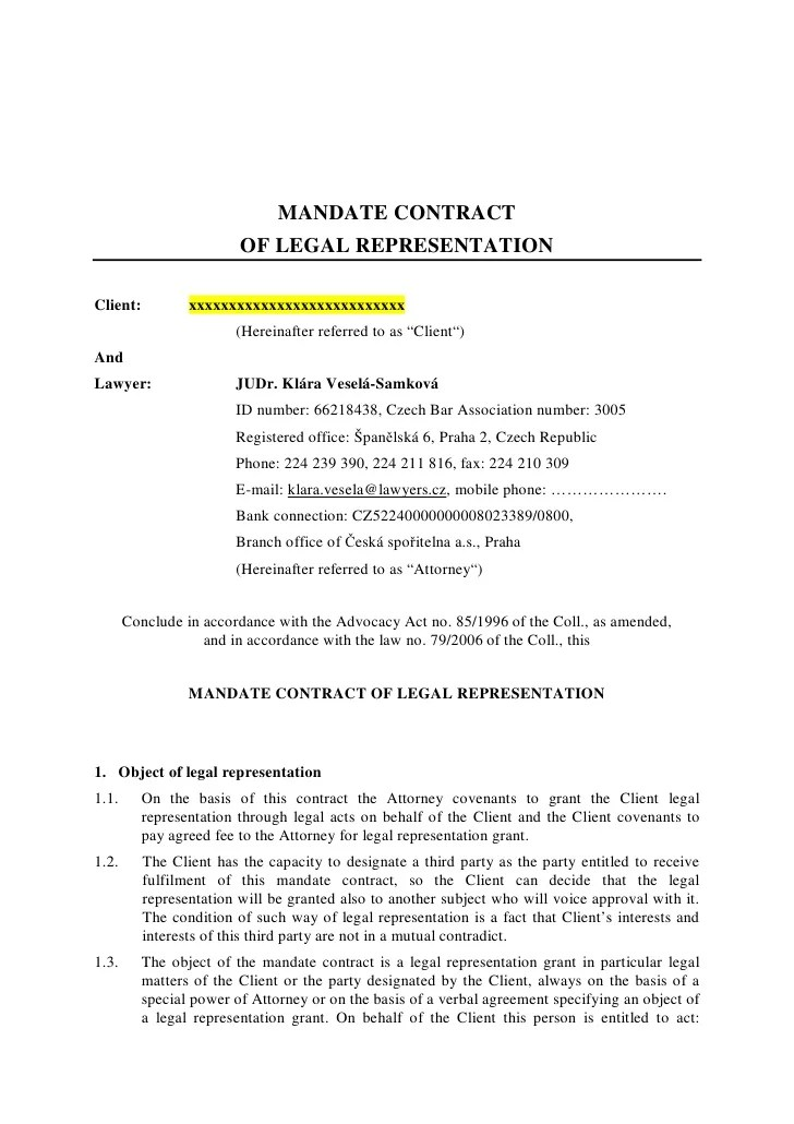 Legal Agreement Letter Sample | Resume Template Free Pdf