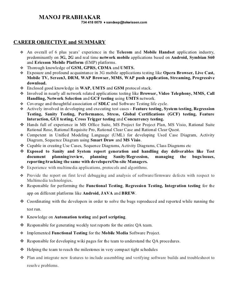 junior quality assurance tester resume