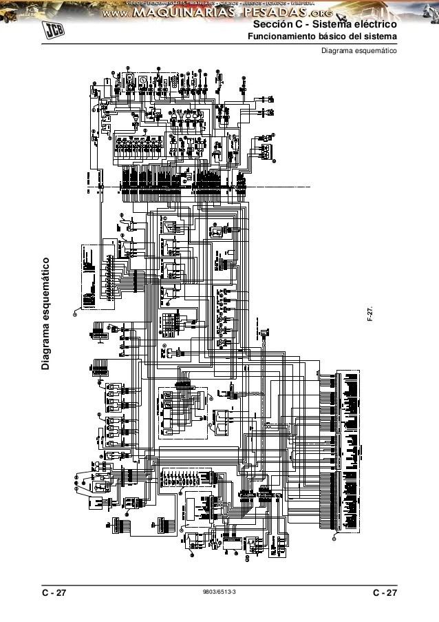 diagrama de cableado for a jcb