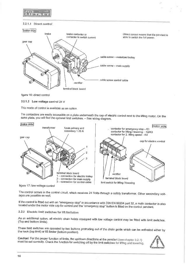 crane pendant wiring diagram budgit hoist wiring diagram phase