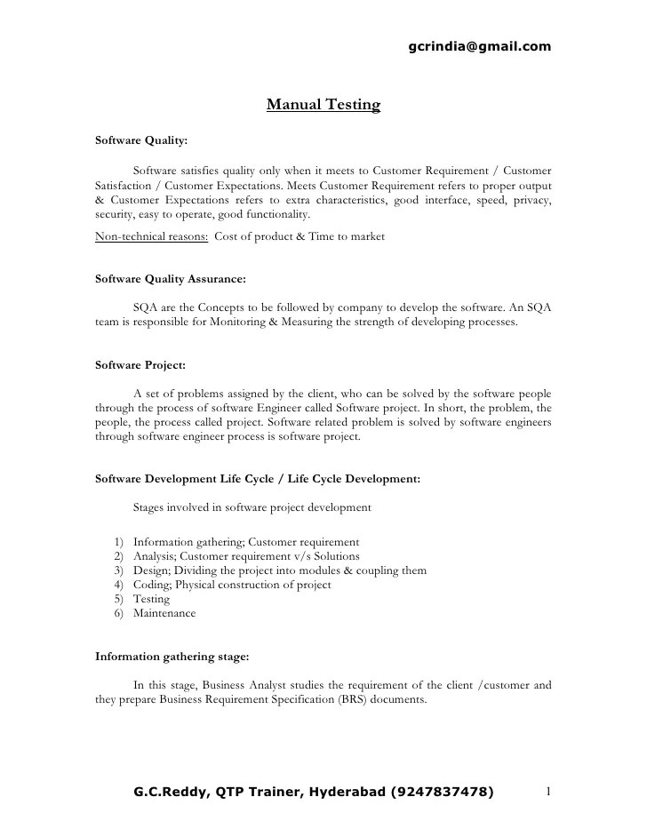 manual tester resume - Ozilalmanoof