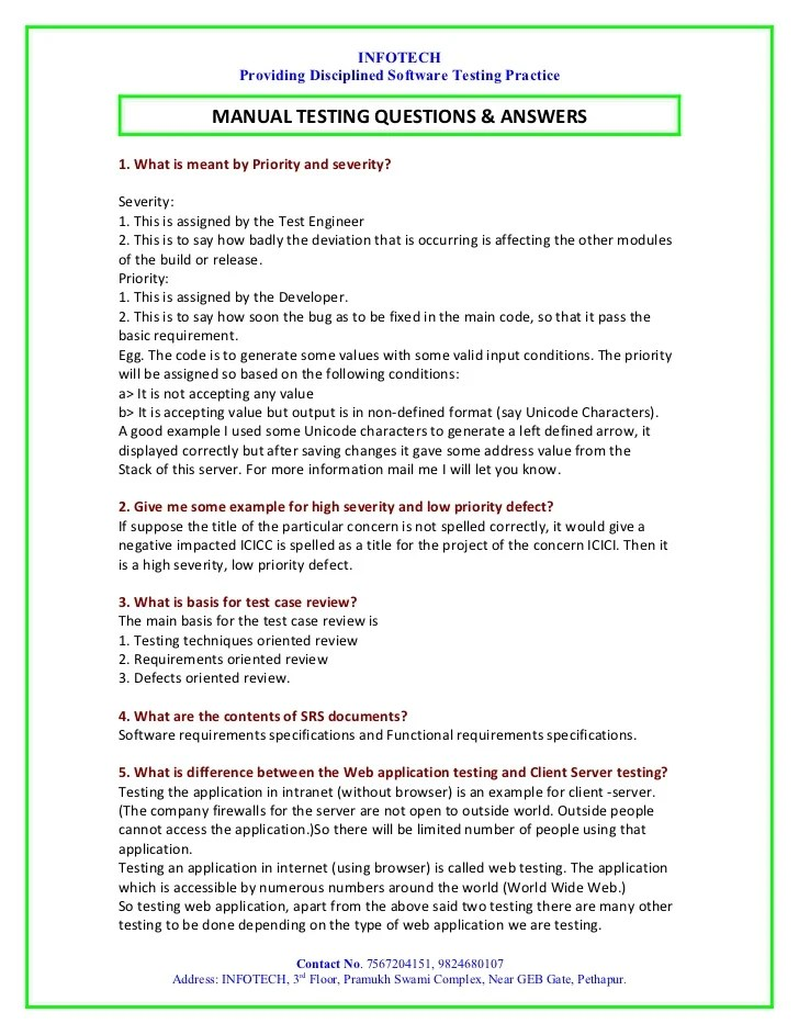 Curriculum Vitae Cv Samples And Writing Tips Manual Testing Interview Question By Infotech