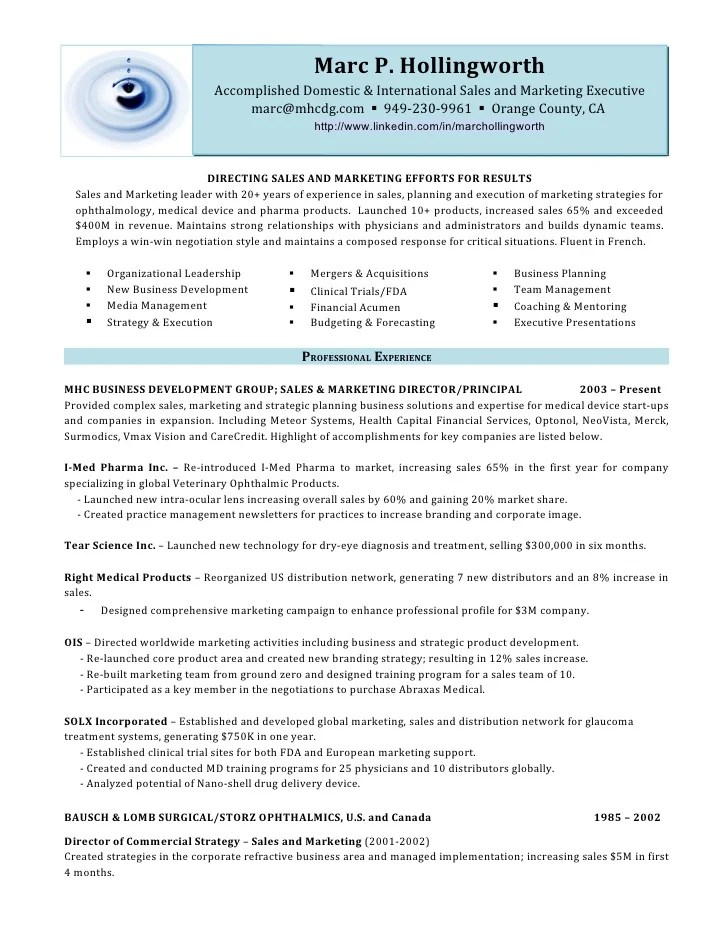sample resume for sales executive shipping invoice templatejob carpinteria rural friedrich sample the resume sample resumes - Sample Resume Of Sales And Marketing Manager