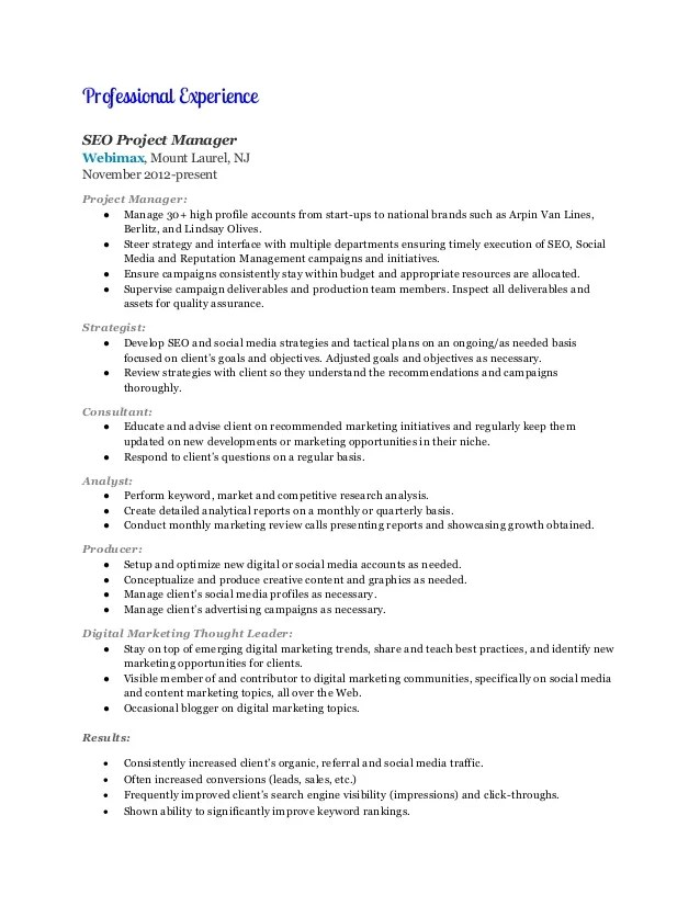 Accounts Manager Experience Resume Sample Office Manager Resume Resume Express Digital Marketing Manager Resume Marilyn Moran