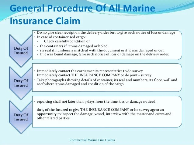 Glossary Of Insurance Terms Marine Insurance
