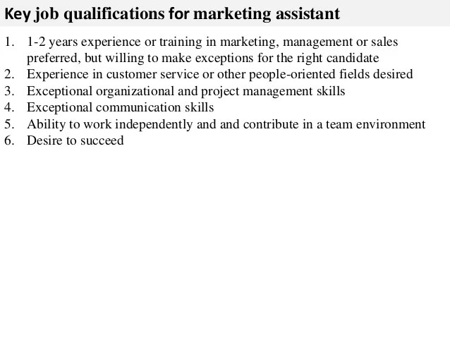 marketing assistant description - Ozilalmanoof - marketing assistant job description