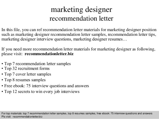 designer recommendation letter - Towerssconstruction