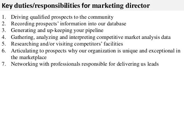 responsibilities of a marketing director - Boatjeremyeaton - director of marketing job description