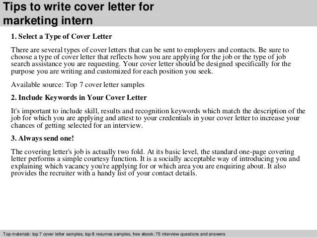 resume cover letter for intern position