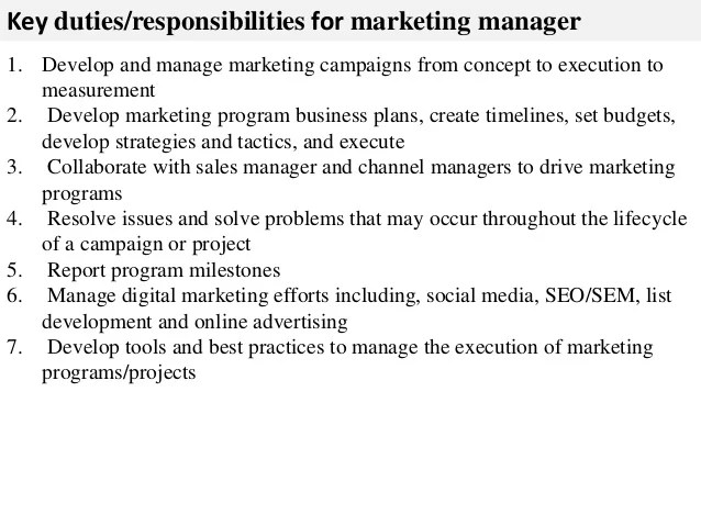 responsibilities of a marketing director - Boatjeremyeaton