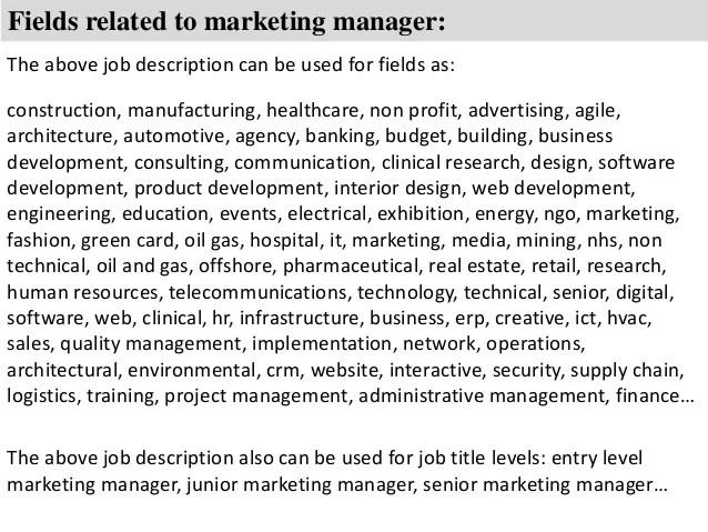 senior marketing manager job description - Muckgreenidesign