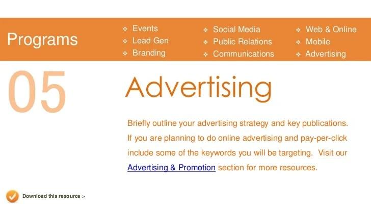 sample advertising plan - Romeolandinez