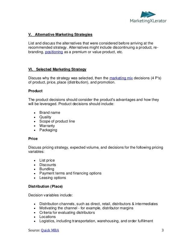 basic marketing plan template - Jamesbiltt - Making Smart Marketing Plan