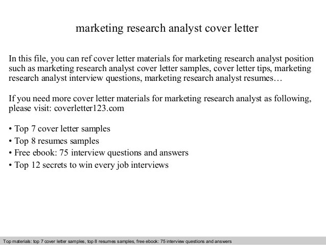 research analyst cover letter sample - Ozilalmanoof