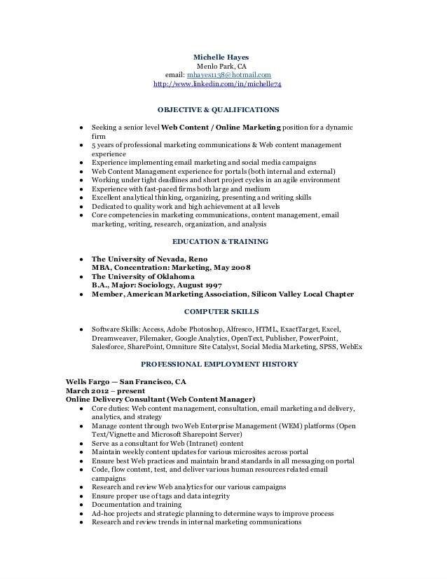 marketing communication analyst resume - Onwebioinnovate