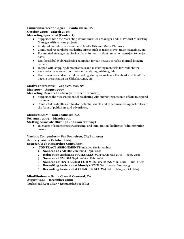 marketing communication analyst resume - Funfpandroid