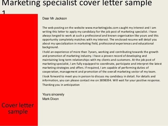 Marketing Communications Manager Cover Letter Sample Focus