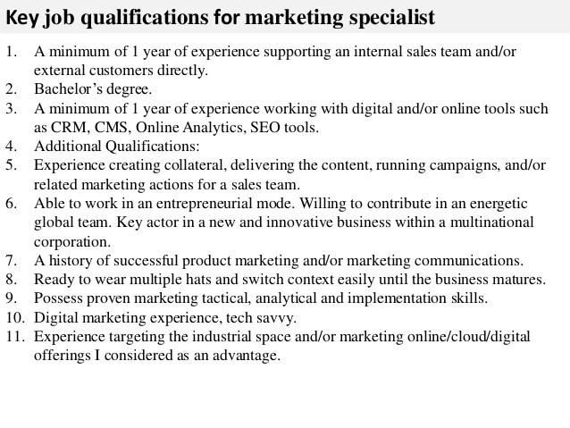 marketing specialist job description - Jolivibramusic