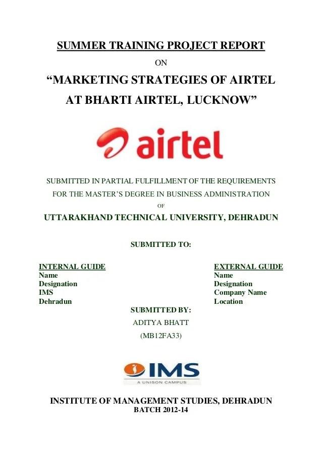 Modern Marketing The 15 Ps Of Marketing Internship Uk Summer Internship Report On Marketing Strategies Of Airtel
