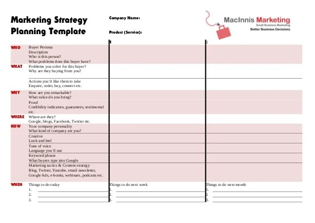 marketing plan template excel - product plan template