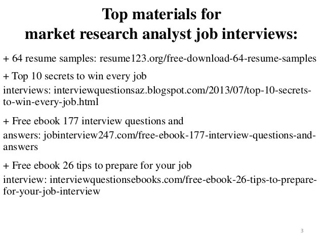 market research analyst resume samples - Pinarkubkireklamowe