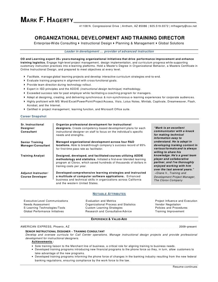 organizational development manager resume - Ozilalmanoof