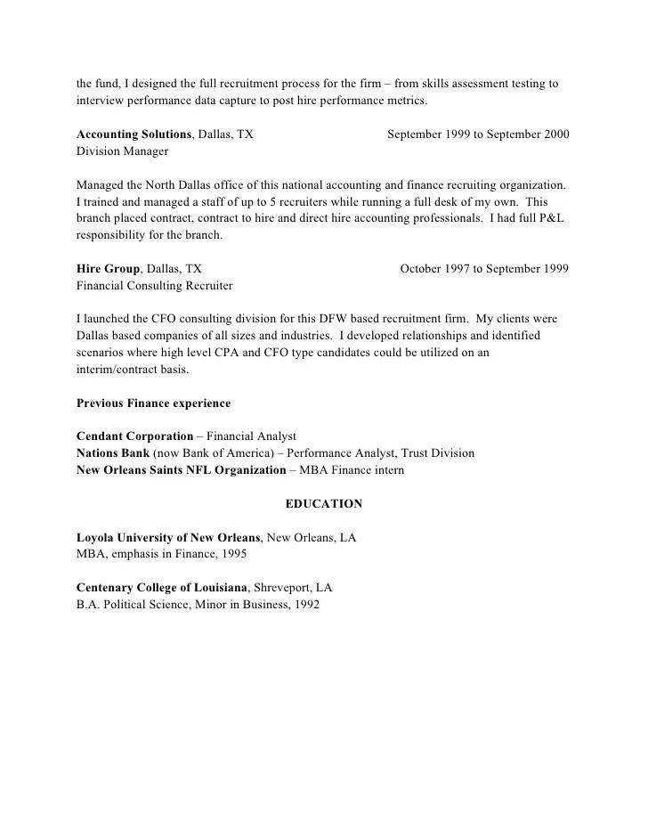 recruiter sample resumes - Holaklonec