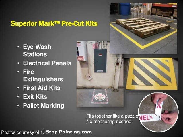 Marking Floors To Increase Productivity Safety
