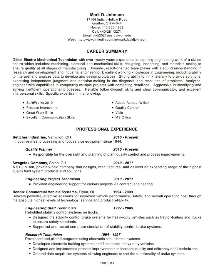 research technician resume - Maggilocustdesign