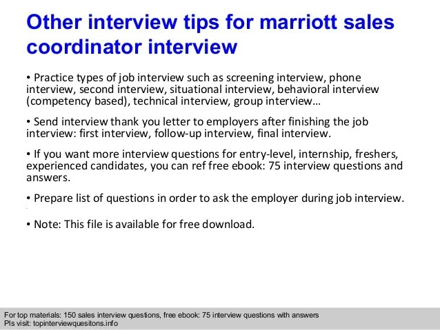 sales coordinator interview questions - Romeolandinez