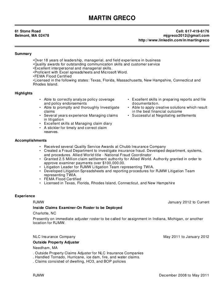 Progressive Claims Adjuster Cover Letter - sarahepps - - social security claims representative sample resume