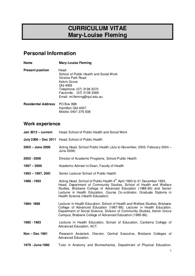 Resume Template On Word 2003 How To Create A Resume In Microsoft Word With 3 Sample Mary Louise Fleming Phd Cv