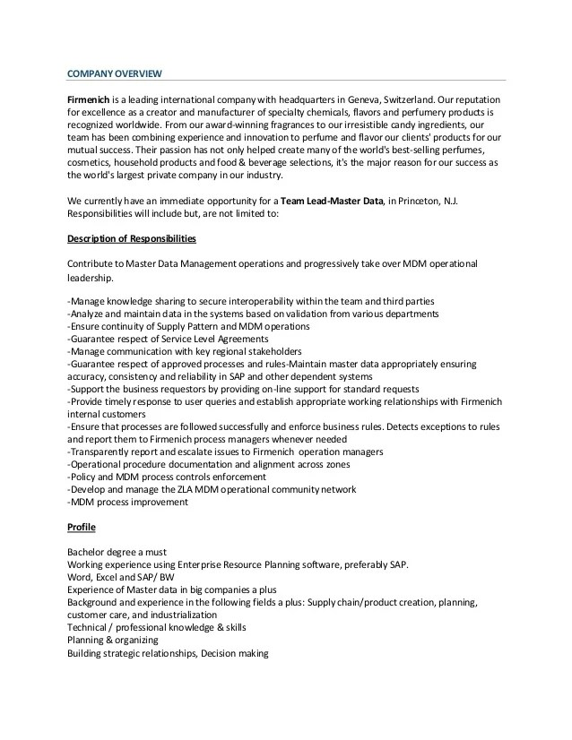Lead Business Analyst Sample Resume