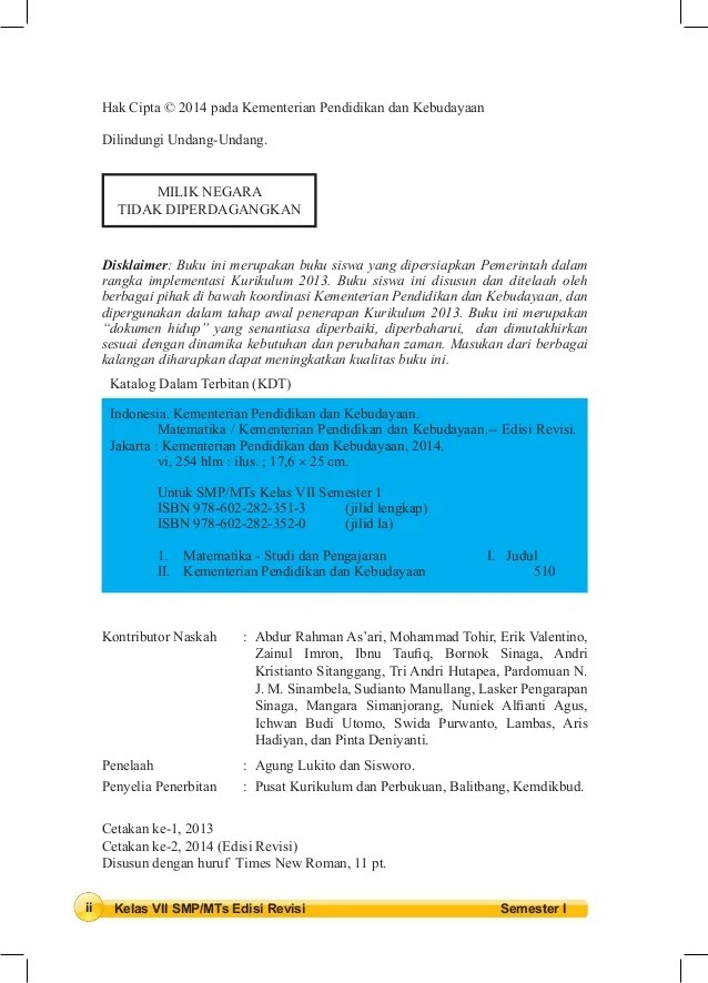 Silabus Kurikulum 2013 Smp Kurikulum 2013 Wikipedia Bahasa Indonesia Ensiklopedia Jpeg 114kb Bse Belajar Matematika Smp Kelas 8 Matematika Kelas 3 Smp