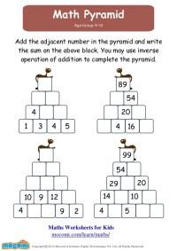 Match Pyramid  Maths Worksheets for Kids  Mocomi.com