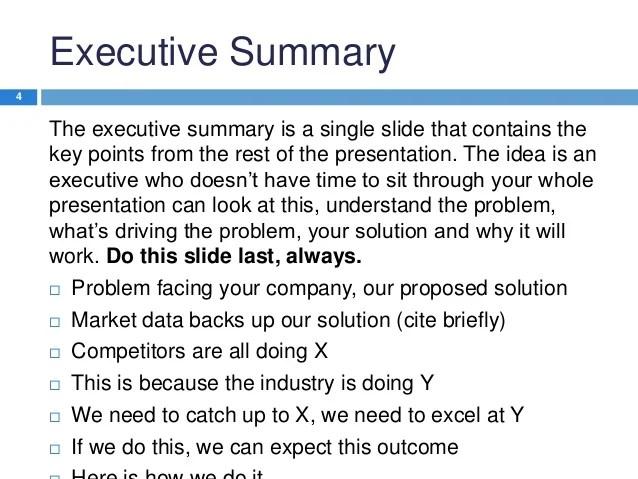 case summary template - Romeolandinez - exec summary template