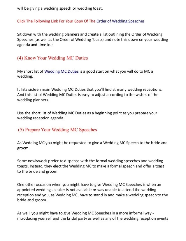 wedding agendas - Towerssconstruction